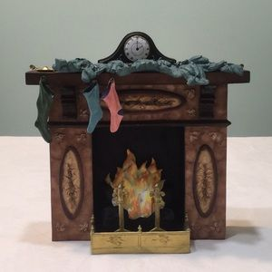 Limited Edition 1987 Hand Painted Resin Fireplace